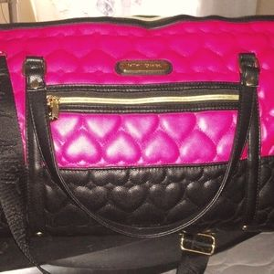 Quilted heart weekender